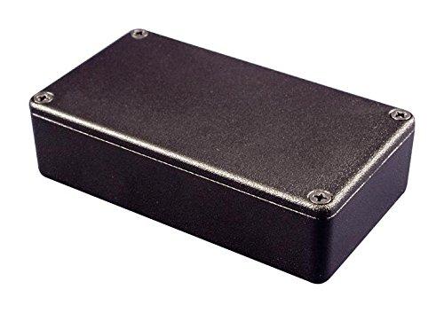 HAMMOND 1550KBK Enclosure, Diecast, IP54, Instrument, 140 mm, 102 mm, 76.6 mm, Aluminium Alloy, Black