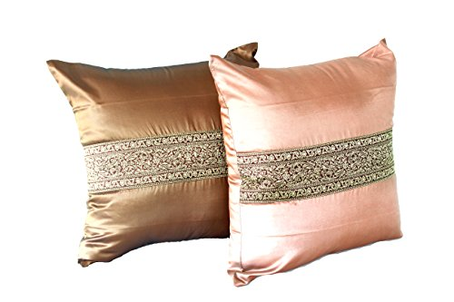 Lotus House Asian Collection - Silk Pillowcase Set (2, Brown) by Lotus House