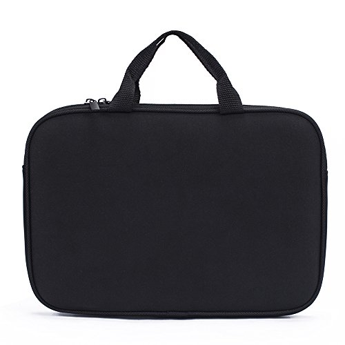 """7-8 inch Sleeve, Slim Neoprene Zipper Carrying Sleeve Case with Accessory Pocket for 7"""" 7.85"""" 7.9"""" 8"""" Tablet Notebook Nextbook Laptop (Black)"""