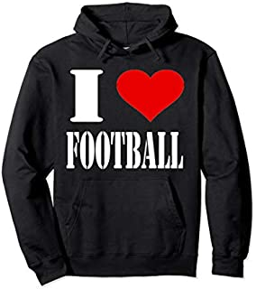 [Featured] I Love Football Hoodie I Heart Football Clothing Apparel in ALL styles | Size S - 5XL