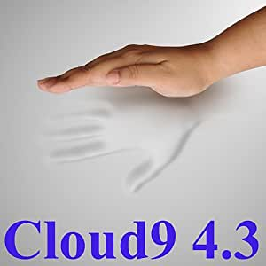 4.3 Cloud9 Queen 4 Inch 100% Visco Elastic Memory Foam Mattress Topper