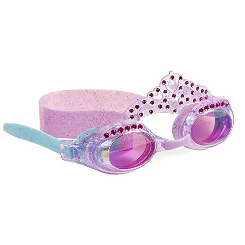 "Bling2o Goggles Kids Swim Goggles - ""Pool Princess"" Kids Swimming Goggles with Anti Fog UV Protection and Custom Kid Goggles Hard - Pool Goggles Swimming Best"