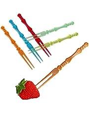 400 Pcs Plastic Picks Fruit Forks,Color Food Fruit Fork,for Fruits and Other Snacks