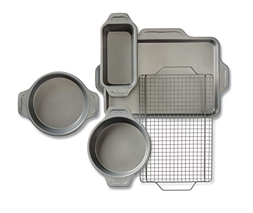 All-Clad J2575S64 Pro-Release bakeware set, 5 piece, Grey