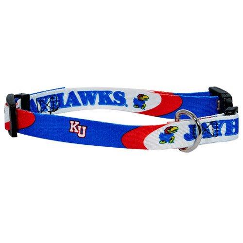 "Kansas Jayhawks NCAA Dog Collar XS: 8-10"" length, 5/8"" width"