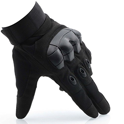 OMGAI Men's Tech Touch Gloves Full Finger Smart Gloves for Motorcycle Airsoft Army Paintball Outdoor Sports Black, L
