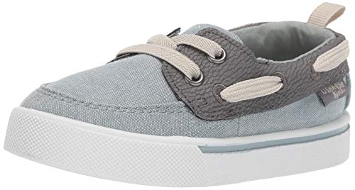 OshKosh B'Gosh Boys Albie Boat Shoe, sage, 11 M US Toddler (Shoes Toddler Oshkosh Boys)