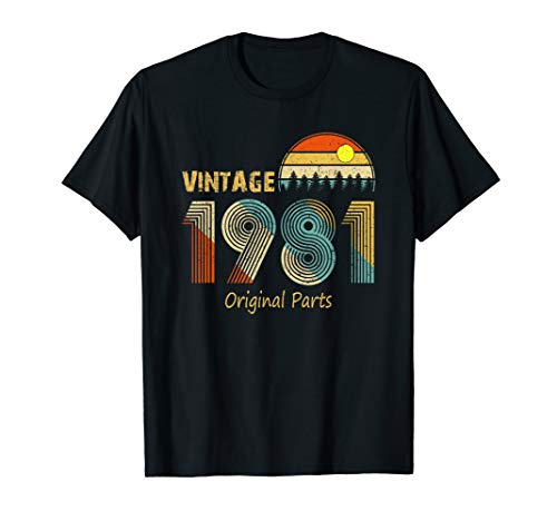 (Happy 38th Birthday with Retro Vintage 1981 T-Shirt)