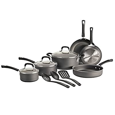 """Tramontina 80143/600 Select """"In & Out"""" Aluminum Nonstick Cookware Set, 12-Piece, Made in USA"""