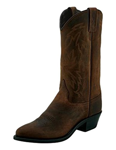 Old West Cowboy Boots Womens Narrow Round Pull On 6.5 M Brown OW2011L