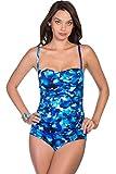Longitude Key Largo Shirred Lingerie One Piece Swimsuit Size 12