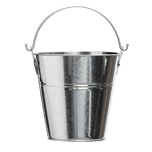 Grease Bucket - Metal Bucket for Grease with Grill / Smoker - Metal Pail With Handle - 2 Quarts
