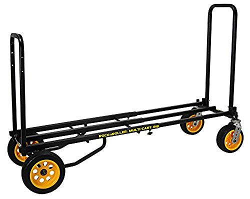 Rock-N-Roller R18RT (Mega Plus) 8-in-1 Folding Multi-Cart/Hand Truck/Dolly/Platform Cart/42 to 60 Telescoping Frame/700 lbs. Load Capacity, Black