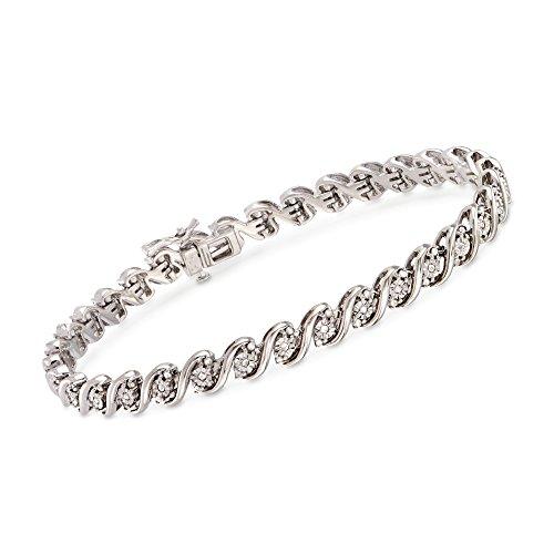 Ross-Simons 1.00 ct. t.w. Diamond San Marco Link Bracelet in Sterling - Link Marco San