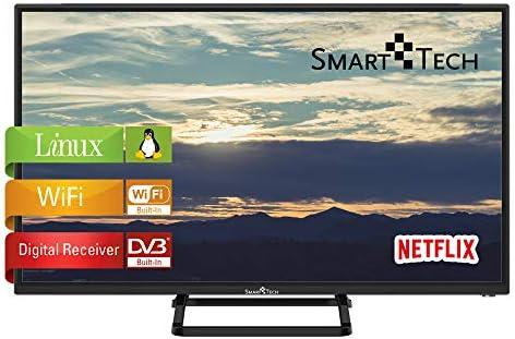 Smart-Tech SMT32P28SLN83U Smart Televisor HD de 32 Pulgadas con Certificación HD, Imagen de Alta Definición, con Sintonizador Triple Incorporado y Wi-Fi (DVB-T2 / T/C / S2 / S, Negro): Amazon.es: Electrónica
