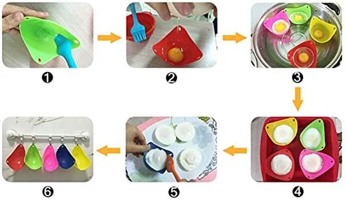 sahnah Silicone Poacher Mould Kitchen Cook Cookware Poached Baking Egg Cup Cooker