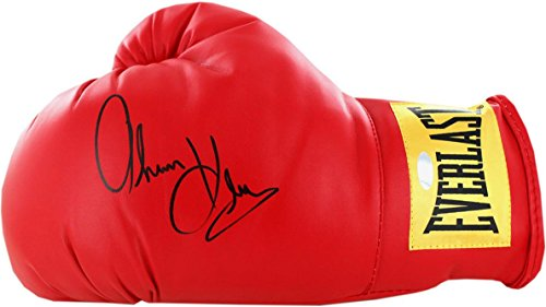 Steiner Sports Thomas Hearns Signed Red Boxing Gloves, Red
