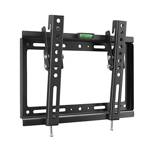 Suptek Tilt TV Wall Mount Bracket for 14-32 TVs Including LED, LCD and Plasma Flat Screens up to VESA 200x200mm and 55lbs and Magnetic Bubble Level MT3202