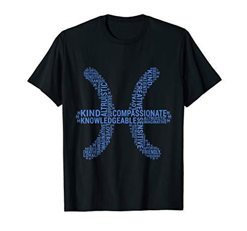 Pisces Traits Astrology Zodiac Sign Horoscope T Shirt