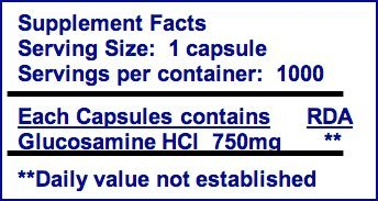 Nutrasense Glucosamine-ES ''Extra Strength'' 1,000 ct. veg caps Exclusively with shellfish-free Regenasure
