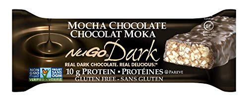 NuGo Dark Chocolate Mocha, Dairy Free, 1.76-Ounce Bars (Pack of 12)