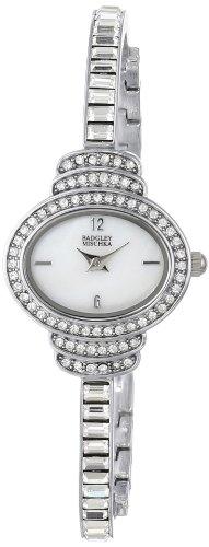 badgley-mischka-womens-ba-1321wmsb-swarovski-crystal-accented-oval-silver-tone-thin-bracelet-watch