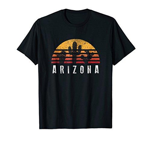 Arizona Retro Sunset Cactus Shirt Cool Vacation Gift