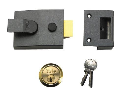 Yale Locks P88 Standard Nightlatch DMG Brass Cylinder 60 mm Backset Visi Pack YALP88DMGPB