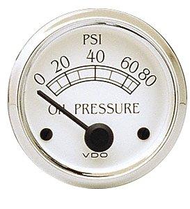VDO 350702 Cockpit Royale Style Electrical Oil Pressure Gauge 2 1/16