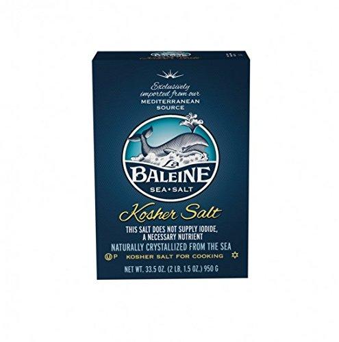 La Baleine Kosher Salt, 33.5 Ounce (Pack of 6)