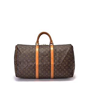 8e144af8837 Image Unavailable. Image not available for. Colour  Authentic Women s Vintage  Louis Vuitton Keepall 50 Brown Monogram Travel Bag