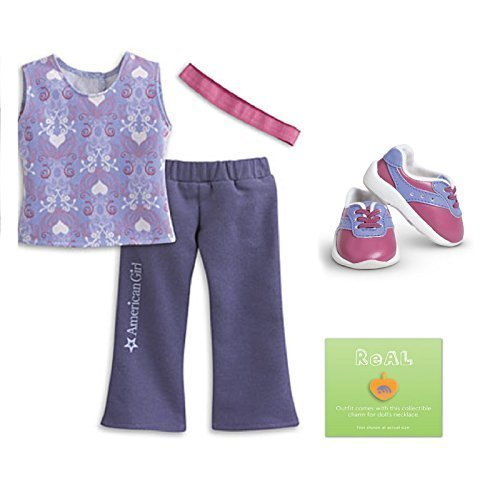 American Girl My AG Feeling Great Outfit for Dolls + Charm (American Girl Doll Charms)