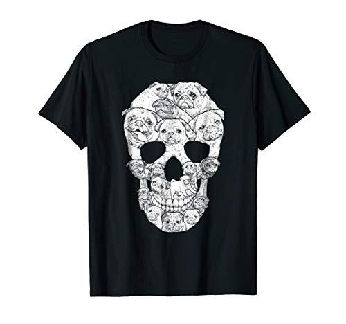 lloween Skeleton Dog Cute Pug Shirt ()