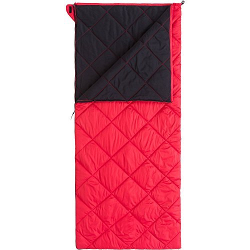 Ozark Trail Deluxe XL Warm Weather Sleeping Bag - Red - 36in W X 80in L