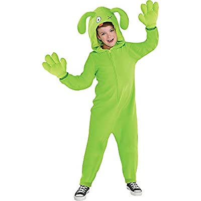 Party City UglyDolls Ox Costume for Children, Includes a Zip-Up Jumpsuit, an Attached Hood, and Gloves: Clothing