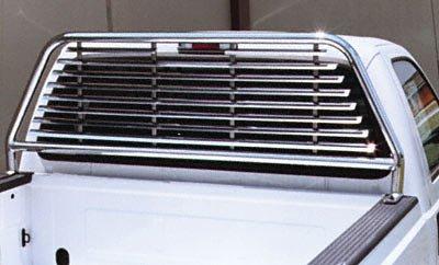 Go Industries Inc. 51539 Headache Rack Cab Protector, Round Tube, Chrome, For Select Ford Trucks