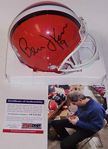 Bernie Kosar Autographed Mini Helmet - PSA/DNA Certified - Autographed NFL Mini Helmets