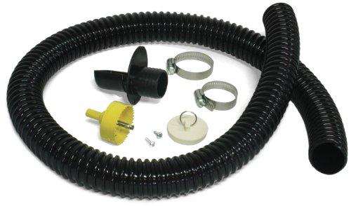 Algreen 81052 Rain Barrel Deluxe Diverter Kit Black (Best Rain Barrel Diverter Kit)