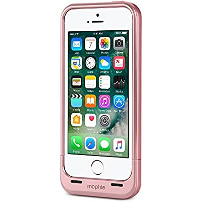 mophie 3494-A Juice Pack Air Case for iPhone 5 5s SE Rose Gold