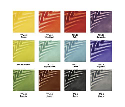 AMACO Teacher's Palette Light Glaze Class Pack, Assorted Colors, 12 Pints from AMACO
