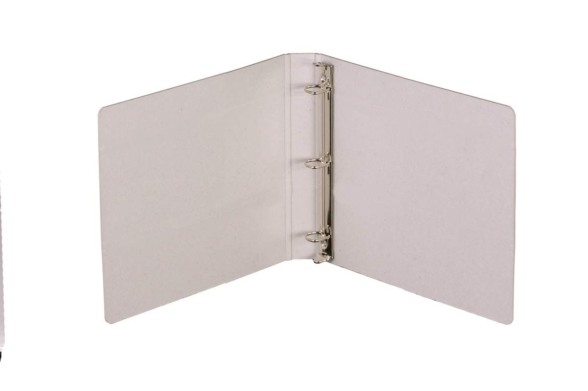 Naked Binder: 3-Ring Binder. Exposed/Bare Board. Accommodates up to 9''(w) x 11''(h) Documents. 2.5'' D-Ring. Square Spine. Sold in Sets of 4 Binders. 100% Recyclable. by Naked Binder