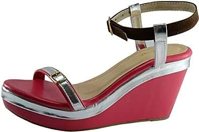 D'Crush Pink Wedge Sandal For Women