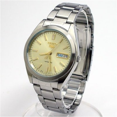 Seiko-Mens-SNX995-Seiko-5-Automatic-Champagne-Dial-Stainless-Steel-Watch