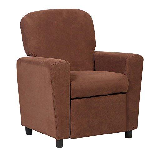 Kids Sofa Armrest Chair Contemporary Brown Microfiber Kids Recliner Children Living Room Toddler Furniture ()