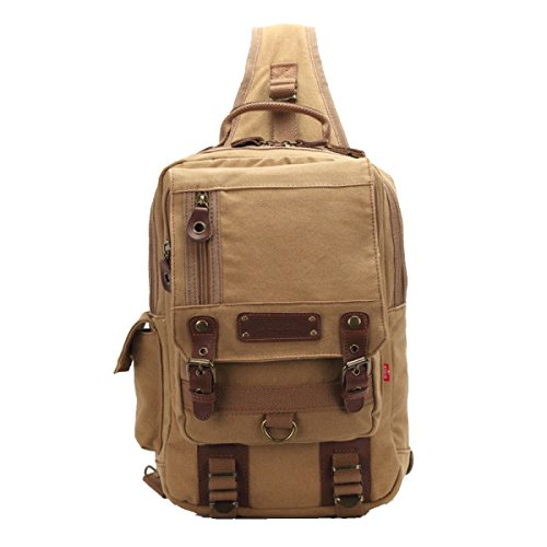 Diagonal Armygreen Shoulder Backpack Unisex Bag qwxU1SWY