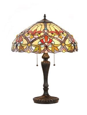 Chloe Lighting CH33352VR18-TL2 Byron Tiffany-Style Victorian 2 Light Table Lamp 18-Inch Shade