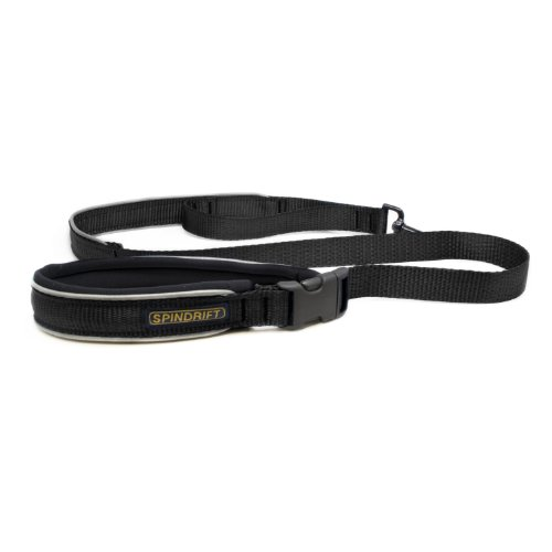 "Spindrift 932 Reflective Safety Dog Lead with Traffic Handle, (1"" x 4ft) - Black"