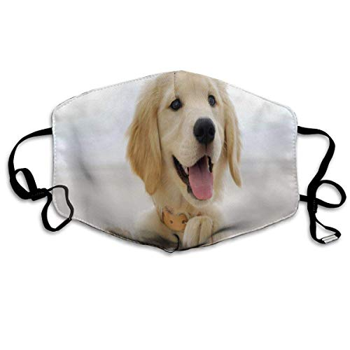 (Liayai7. Anti Dust Mask Most Lovely Golden Retriever Puppy,Surgical Mask Winter Healthy Warm for Boys Thanksgiving Day Mouth Masks)