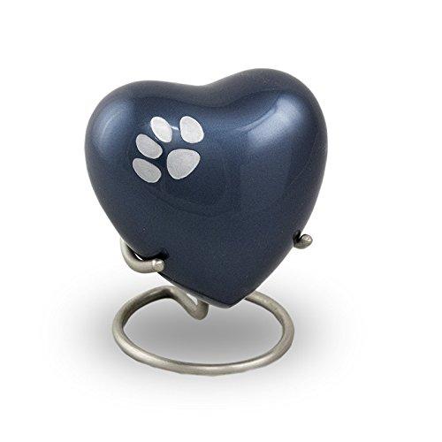 Odyssey Pet Paw Heart Keepsake Midnight bluee