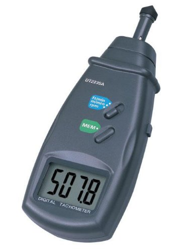 6 opinioni per pixtic DT2235A digitale Contagiri, Laser, 0,5?99.999giri/min